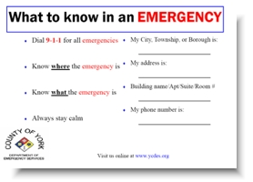 Emergency Cards